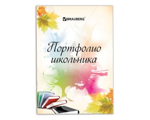 Портфолио Brauberg ШКОЛЬНИКА  32л внутренний блок (титульный лист, содержание, 30 разделов)