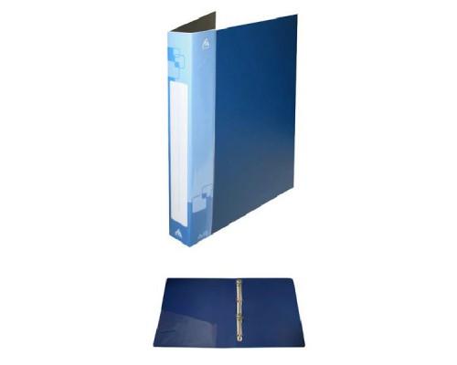 Папка 4 кольца Бюрократ 18мм 0,7мм синяя