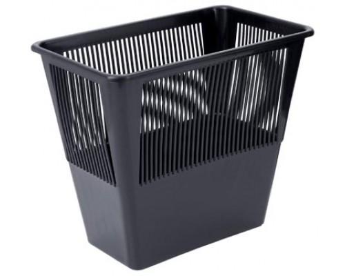 Корзина для бумаг 12л прямоуг сетчатая черная
