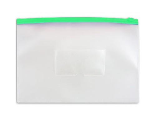 Папка-конверт на молнии А4 Бюрократ зеленая