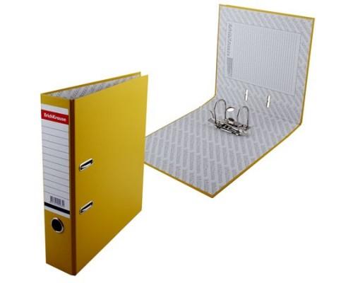 Папка-регистратор 70мм ЕК Стандарт желтая собр метал.окантовка б/кармана 285