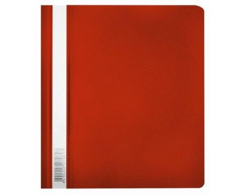 Скоросшиватель А5 Бюрократ красный  PSL-20A5-red