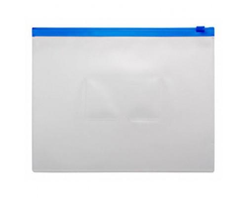 Папка-конверт на молнии А4 Бюрократ белая