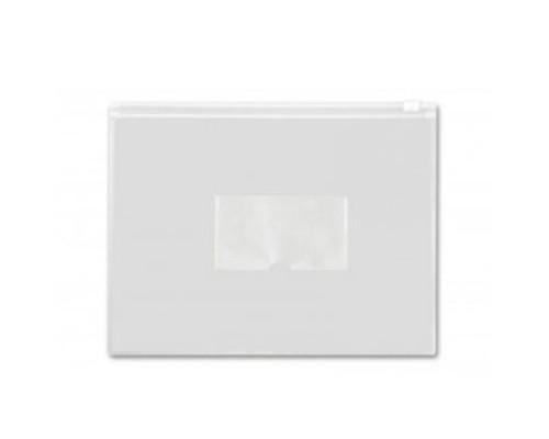 Папка-конверт на молнии А5 Бюрократ белая