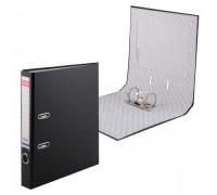 Папка-регистратор 50мм ЕК Granite черная собр (А4 картон/ПВХ, карман)
