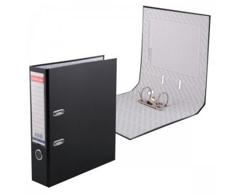 Папка-регистратор 70мм ЕК Granite черная собр (А4 картон/ПВХ, карман)