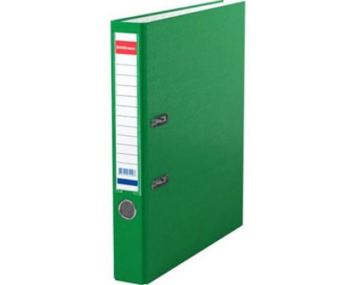Папка-регистратор 50мм ЕК Granite зеленая собр (А4 картон/ПВХ, карман)