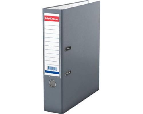 Папка-регистратор 70мм ЕК Granite серая собр (А4 картон/ПВХ, карман)