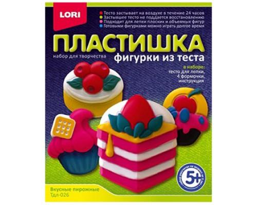 Набор для лепки LORI Фигурки из теста Вкусные пирожные Тдл-026