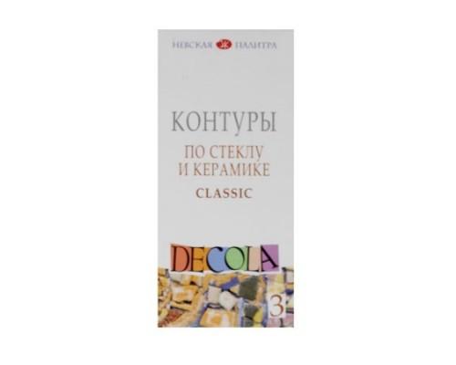 Набор контуров Декола 3*18мл акрил стекло керамика 5341375