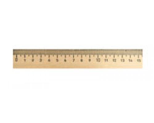 Линейка 15см деревянная Можга С03