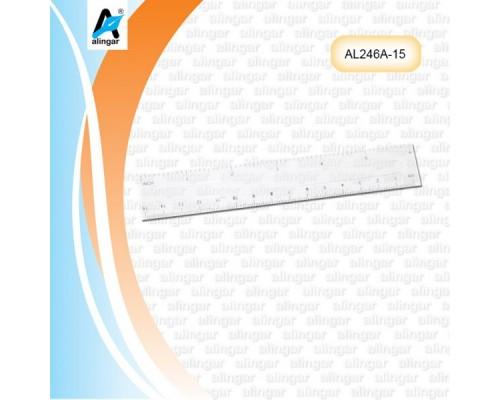 Линейка 15см AL246-А пластик прозрачная