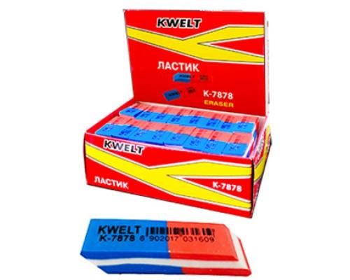 Ластик Kwelt сине-красный 40*12*8мм К-7878