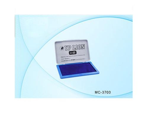 Штемпельная подушка YP Lion №2 70*110мм синяя МС-1878