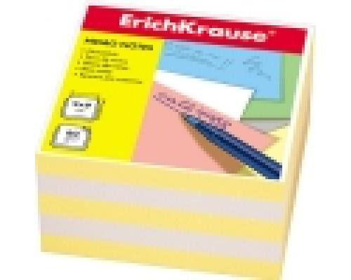 Блок бумаги Erich Krause 9*9*5см 2цв желтый