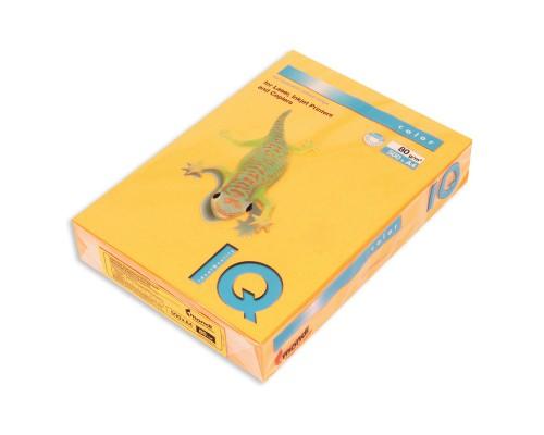 Бумага офисная IQ Color 80г NEOOR А4 500л оранжевый неон Mondi
