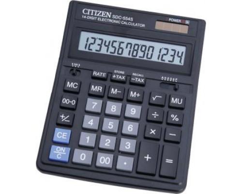 Калькулятор Citizen 14-разрядный SDC-554S 153*199*30.5