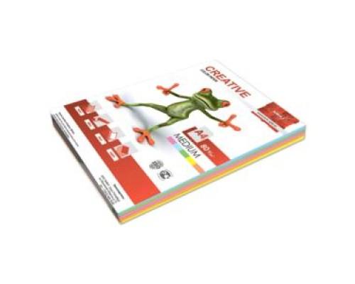 Бумага офисная Creative color 80г/м А4 100л 5цв*20л медиум БОpr-100r