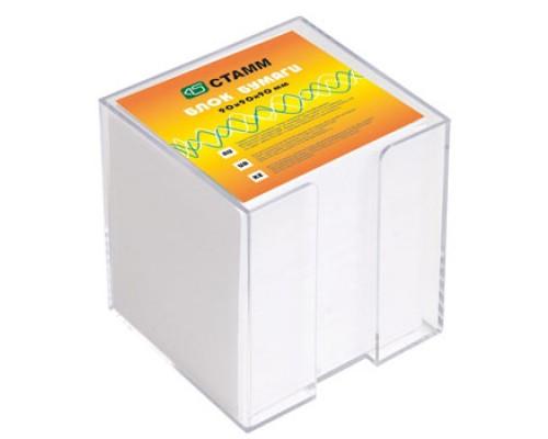 Блок бумаги Стамм 9*9*9см белый Эконом в стакане