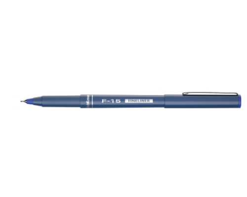 Ручка капиллярная ЕК F-15 0,6мм синяя 37065