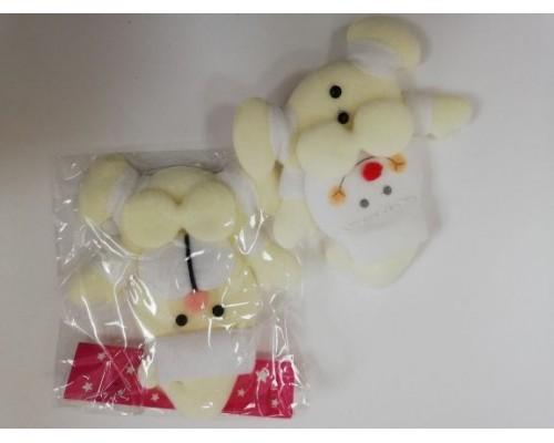 Ёлочные украшения Дед Мороз,Санта Клаус,Снеговик ткань F08869