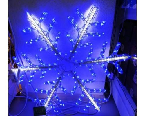 Гирлянда В Снежинка Дюралайт+лучи 70см сине-белая IP65 499