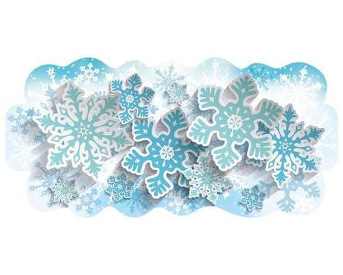 Гирлянда Миленд 9-12 Снежинки 9-12-0020