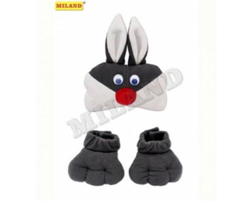 Набор карнавальный Зайчик (маска и лапки) Миленд КРК-2103