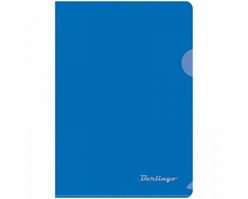 Папка-уголок Berlingo А5 180мкр синяя