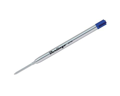 Стержень шар Berlingo 99мм 1мм объёмный металл синий (тип Parker) CPb_11352