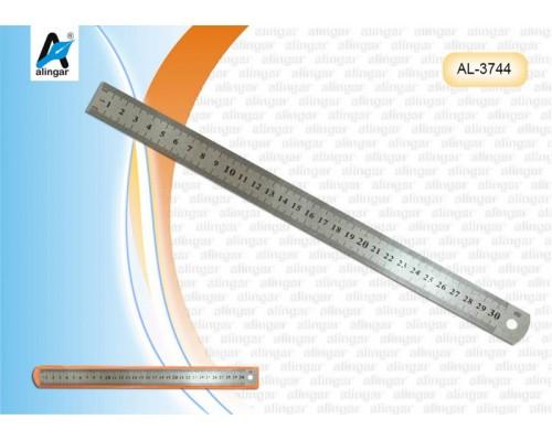 Линейка 30см AL3744 металл.