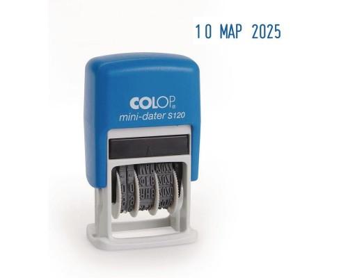 Датер Colop S120 мини 3,8мм 1стр мини (01.01.17)