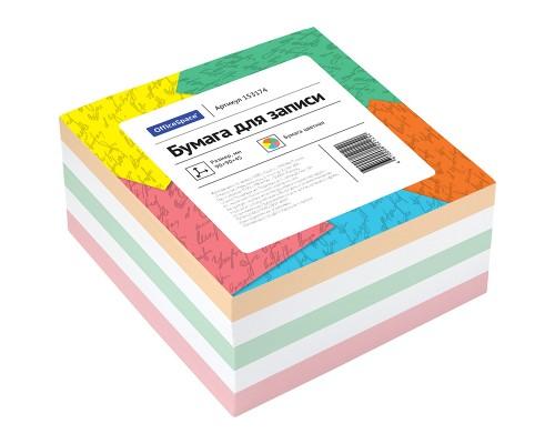 Блок бумаги OfficeSpace 9*9см 500л цветной КБ9-5 Цн