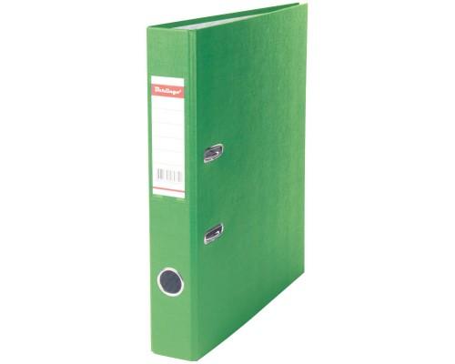 Папка-регистратор 50мм Berlingo салатовая (А4 картон/бумвинил,прозр.карман на корешке,поле д/записи на внутр.строне)