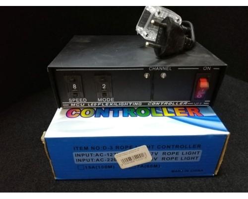 Контроллер на дюралайт плоский 3 жилы 10,5мм до 100м