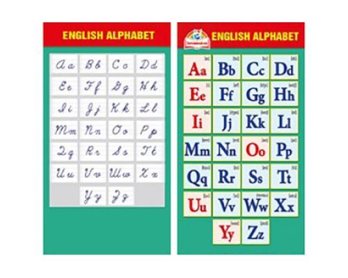Шпаргалка English alphabet МП 150 080.629