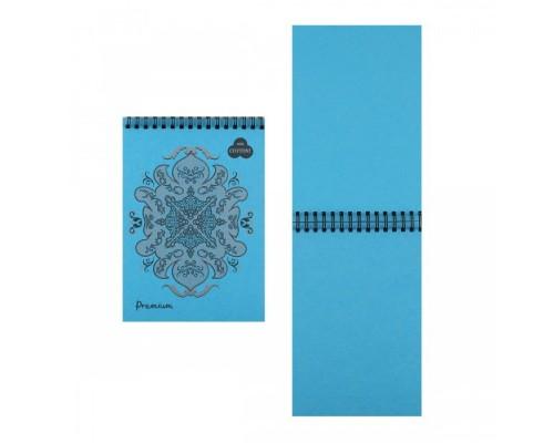 Блокнот для пастели А5 30л Premium Cloudy sky 160г/м2 40% хлопок тиснение Холст облачное небо спираль БРr-8307