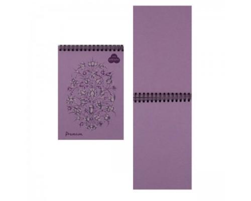 Блокнот для пастели А5 30л Premium Lavanda 160г/м2 40% хлопок тиснение Холст темно-розовый спираль БРr/LV