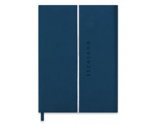 Ежедневник Феникс А5+ 192стр недатир Софт-тач синий органайзер серый офсет 47402