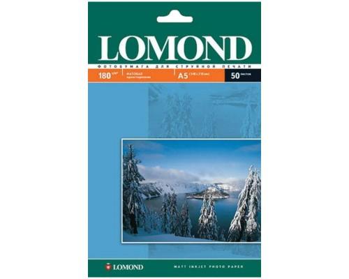 Фотобумага Lomond IJ A5 матовая 180г/м2 50л