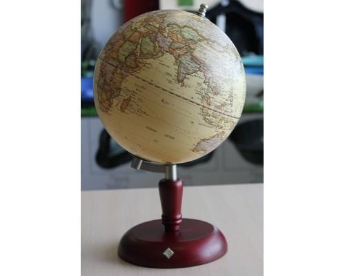 Глобус Protege Caractere 20см на деревянной подставке бук красно-коричневый 600386