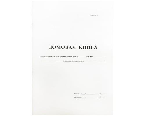 Домовая книга А4 16л скрепка офсет 380663