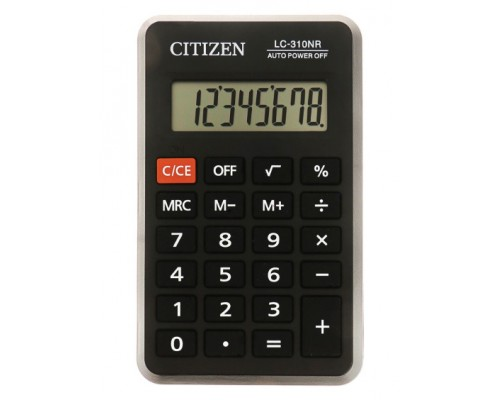 Калькулятор Citizen 8-разряд. 69*114*14мм LC-310NR