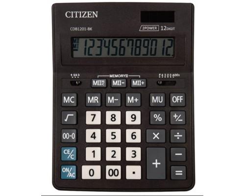 Калькулятор Citizen 12-разряд.Business Line 157*200мм настольный дв.питание CDB1201BK