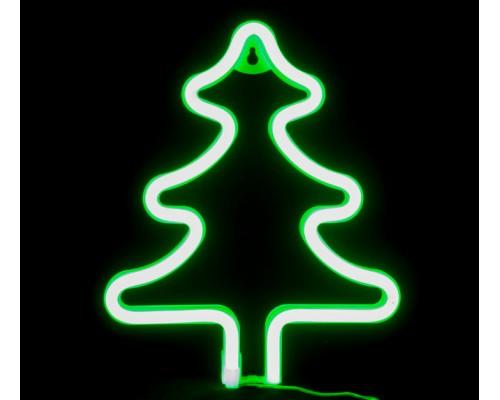Гирлянда В Елка гибкий неон 25*18см зеленый на подставке IP65 551