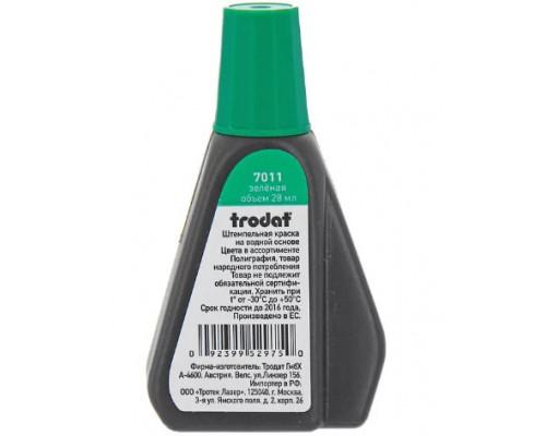 Краска штемпельная TRODAT 28мл зеленая 7011з