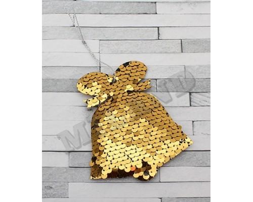 Ёлочные украшения Колокольчики 9,5см с пайетками Миленд НУ-1238
