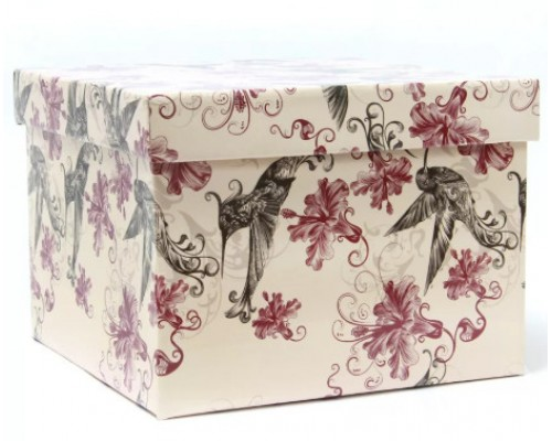 Короб подарочный Giftbox Нежные колибри куб 22*22*16см 50471