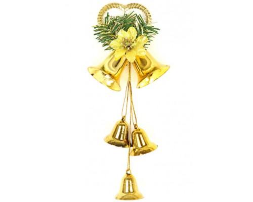 Ёлочные украшения Колокольчики золото 19*10см Вельт 38341