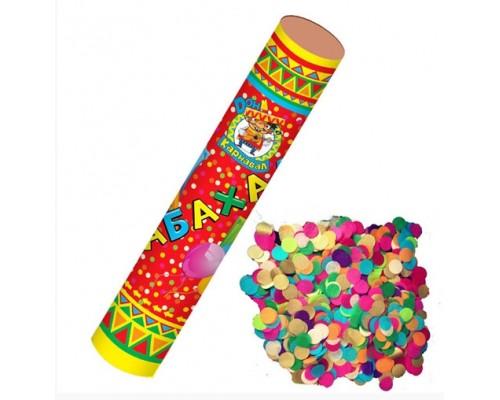 Хлопушка П-П 12см Бабахалка Круглое конфетти (бумажное) Х-1451
